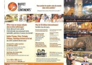 Buffet des continents